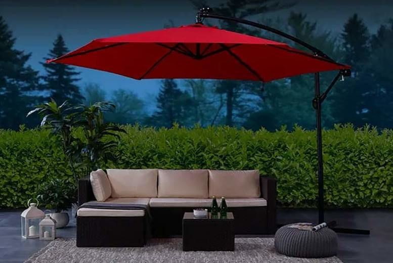 Garden Parasol – 4 Sizes & 4 Colours! (from £39)