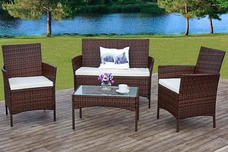4pc Rattan Garden Furniture Set Garden Furniture Deals In Cork