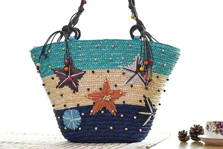 Seashell Straw Beach Bag – 3 Designs! (£11)