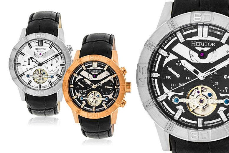 Men's Heritor Luxury Watch - 6 Designs!