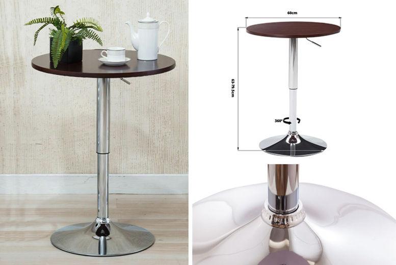 Swivel Bar Table with Chrome Base