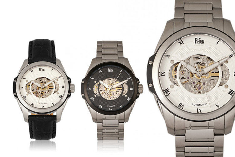 Reign Men's Automatic Watch from Henley Collection– 6 Designs