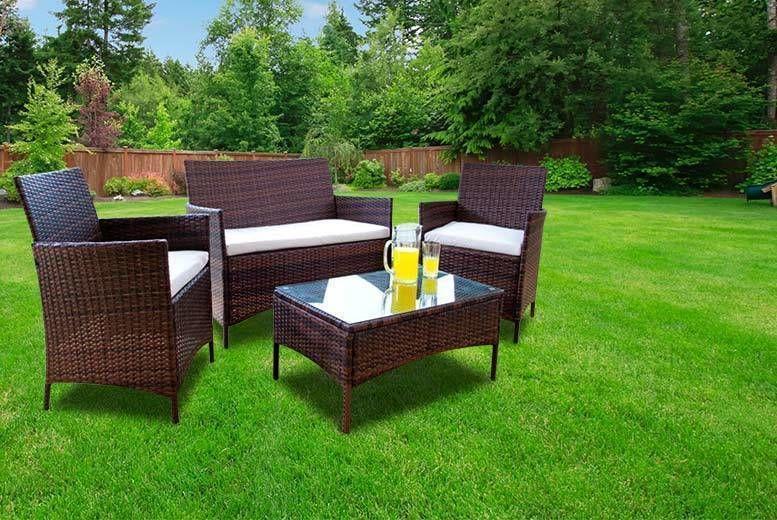 Outstanding Rattan Furniture Garden Set Shop Livingsocial Home Remodeling Inspirations Genioncuboardxyz