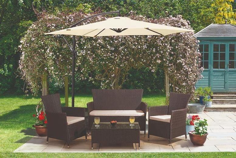 4pc Rattan Garden Furniture Lounge Set (from £199)