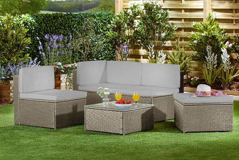 Garden Life 4-Seater Rattan Sofa Set with Optional Cover - 3 Colours!