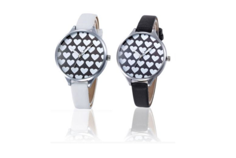 Heart Patterned Watch - 2 Colours!