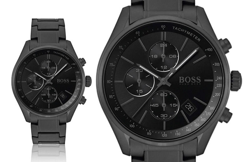 Hugo Boss Men's Grand Prix All Black Watch