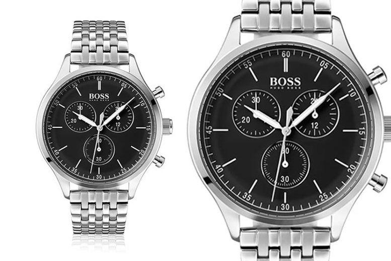 Hugo Boss Men's Silver Navigator Watch