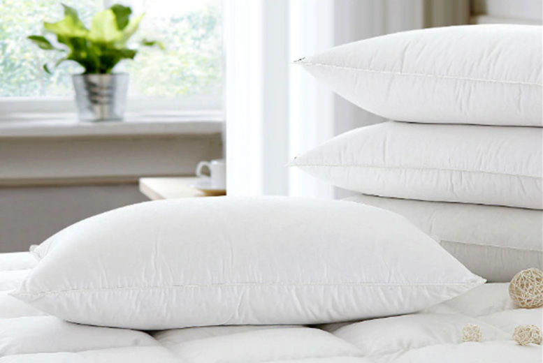 4 Extra Filled Goose Feather & Down Pillows