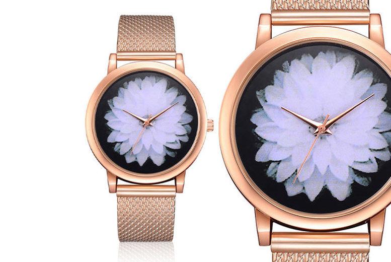 Ladies' Personalised Floral Wristwatch