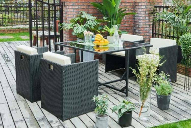 4 Person Cube Rattan Set – 3 Colours! (from £239)