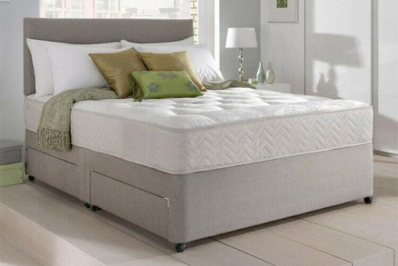 Dreyton Divan Bed w/ Memory Mattress & Optional Drawers - 6 Sizes!