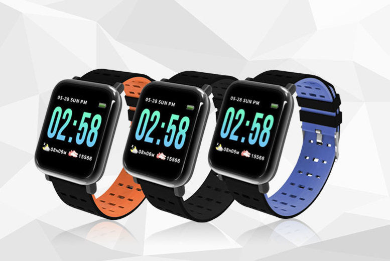 A6 Smart Watch with Blood Pressure Monitor - 3 Colours!
