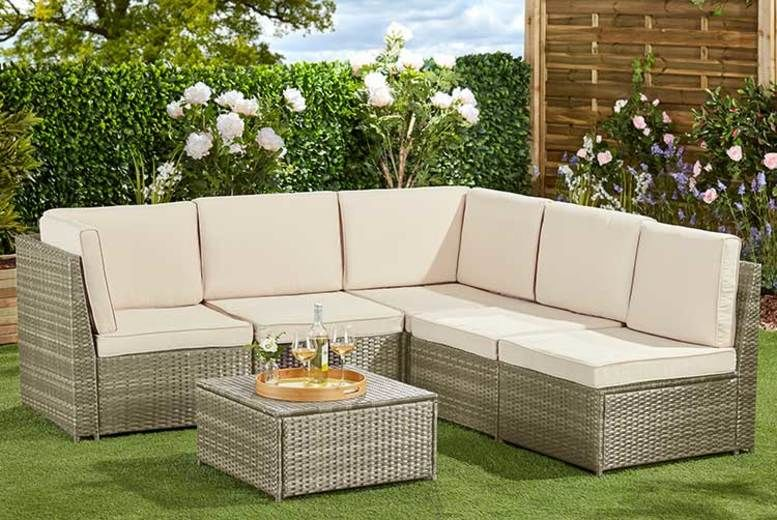 6pc Tuscany Modular Rattan Daybed – 2 Colours & Cover Option! (£479)