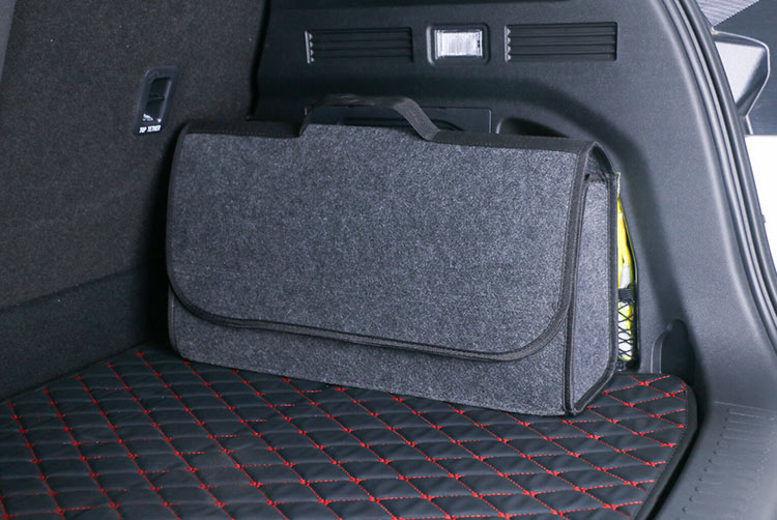 Large Capacity Grey Anti Slip Car Trunk Boot Storage Organiser Case Tool Bag UK