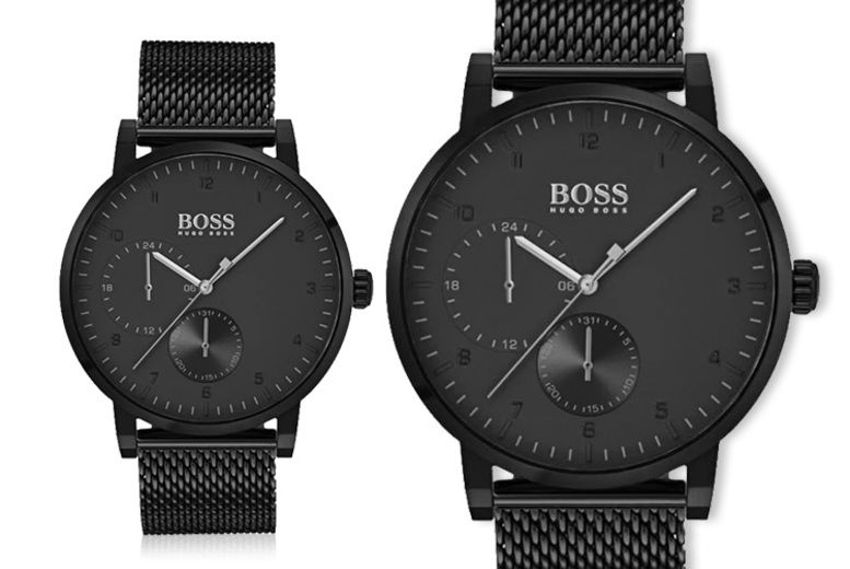 Hugo Boss Men's Oxygen Black Mesh Watch