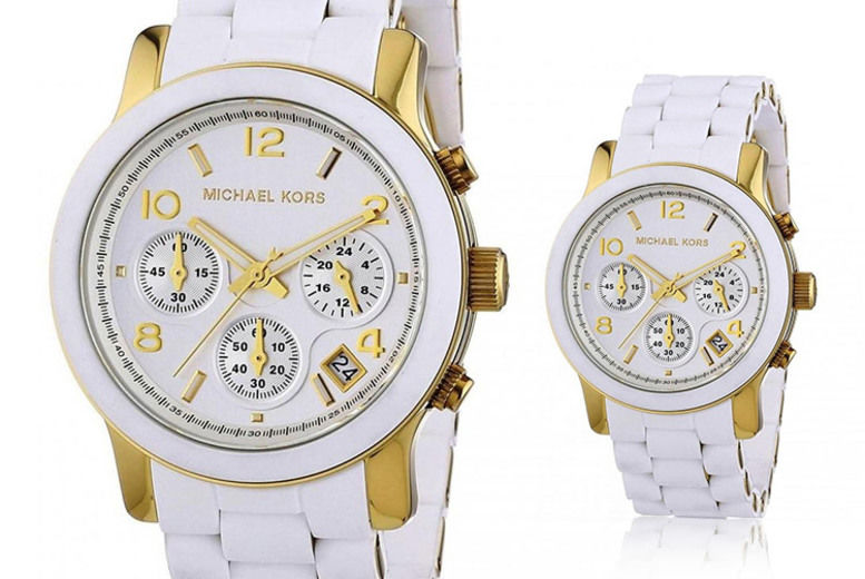 Michael Kors MK5145 Ladies Runway White Watch