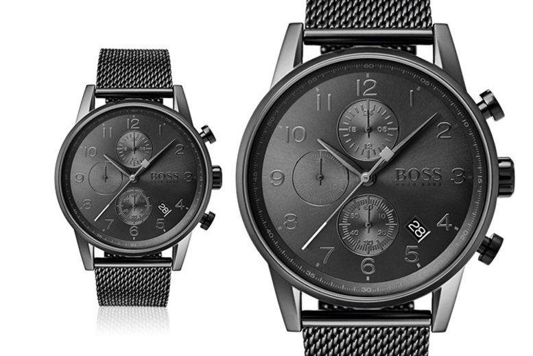 Hugo Boss Men's Navigator Grey Mesh Watch HB1513674