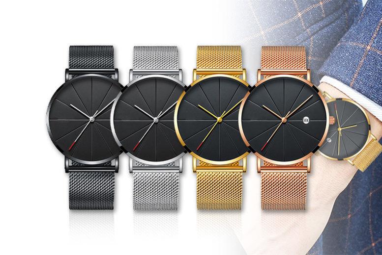 Men's Quartz Stainless Steel Watch - 4 Colours!