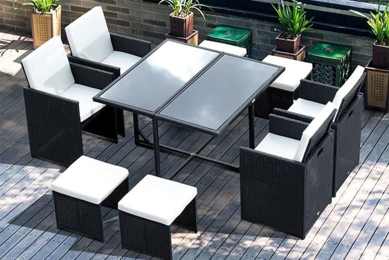 4pc or 9pc Rattan Garden Furniture Set (from £89)