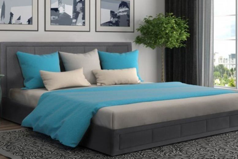 Luxury Grey Fabric Ottoman Storage Bed with Mattress Options! (from £125)