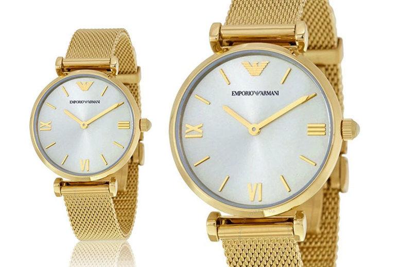 Emporio Armani AR1957 Ladies Retro Gold Watch