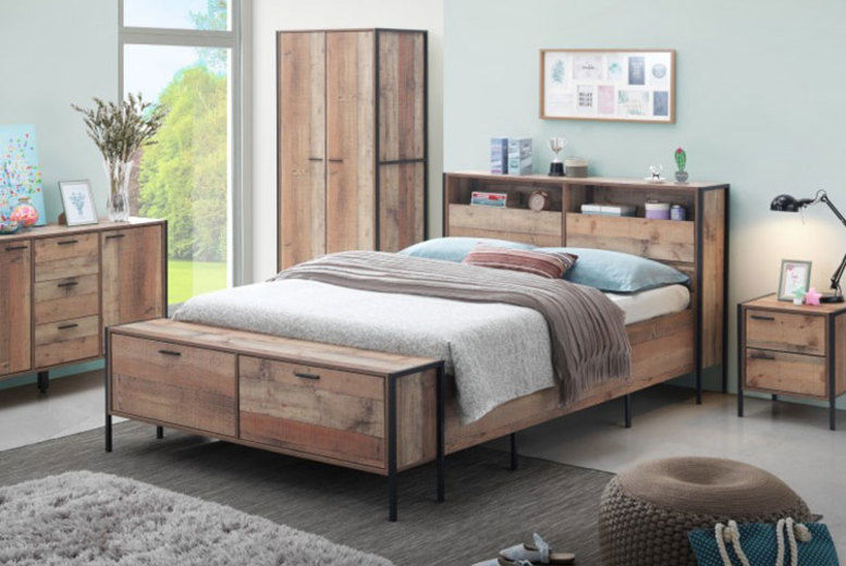 Stretton Rustic Industrial Bedroom Furniture - 4 Options!