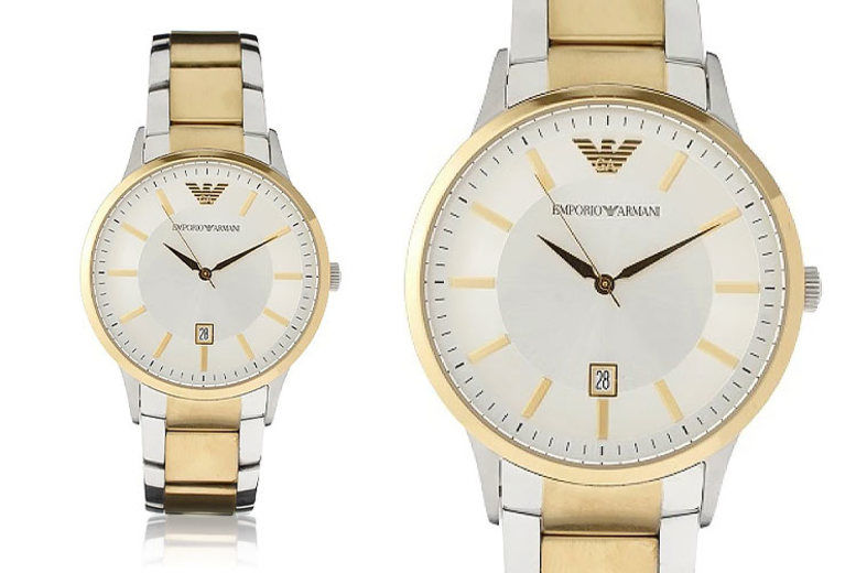 Emporio Armani AR2449 Men's Two-Tone Watch