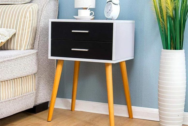 2-Drawer Nightstand Cabinet