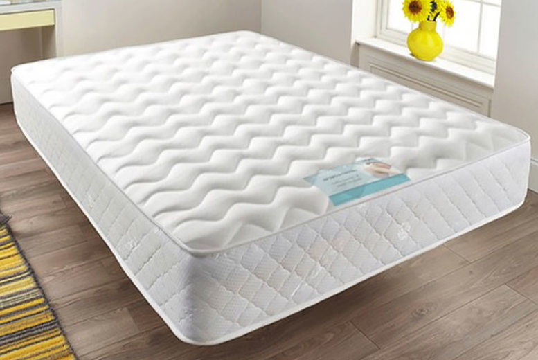 Quilted Sprung Memory Foam Mattress - 6 Sizes!