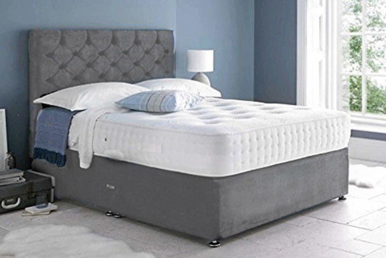Mona Velvet Divan Bed w/ Mattress - 6 Sizes & Drawer Options!