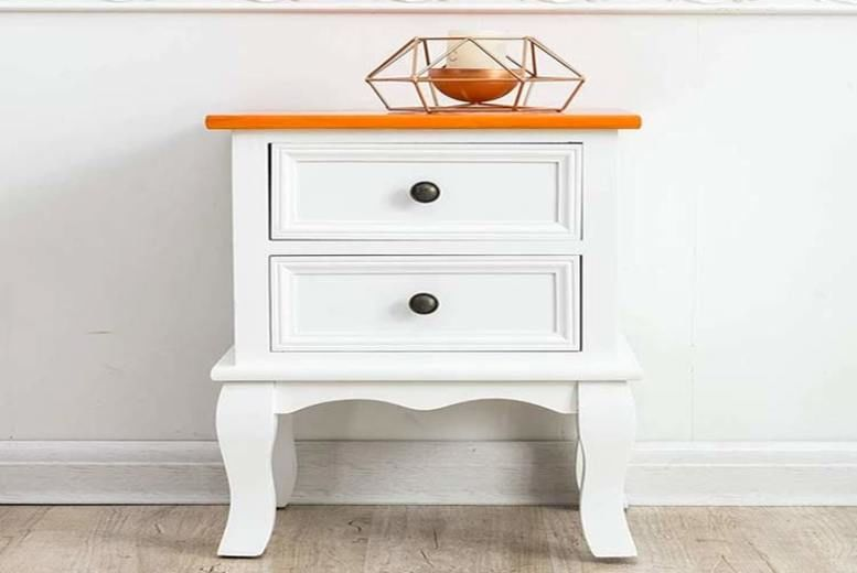 Two-Toned Finish Wooden Bedside Table