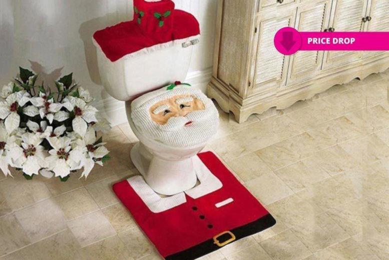 Fine 3 Piece Christmas Santa Toilet Seat Cover London Wowcher Alphanode Cool Chair Designs And Ideas Alphanodeonline