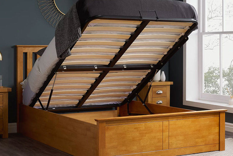 Wooden Ottoman Bed - 3 Mattress Options & 3 Sizes!
