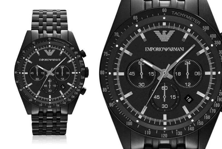 Men's Emporio Armani AR5989 Black Chronograph Watch