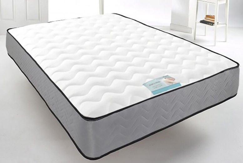 Cool Blue Mirco-Quilted Memory Foam Spring Mattress - 6 Sizes!