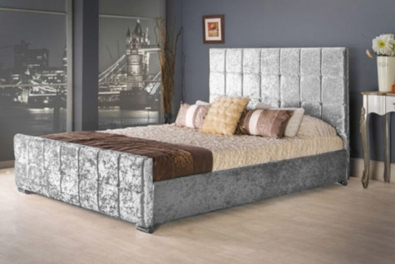Crushed Velvet-Effect Bed - Mattress Options!