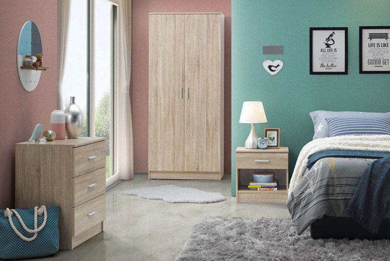 Rio Costa 3Pc Bedroom Furniture Set - 2 Colours!