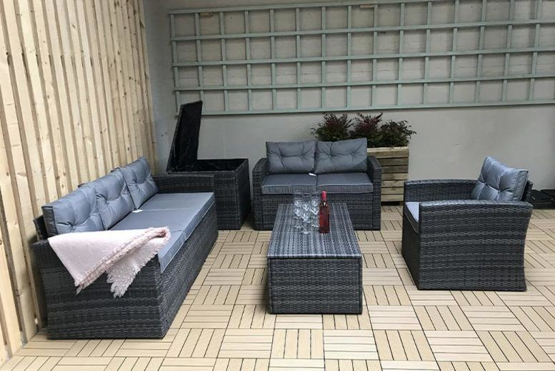5pc Holly Polyrattan Sofa Set – 2 Colours! (from £529)