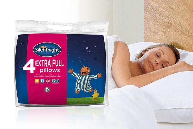 4 Extra-Full Silentnight Pillows