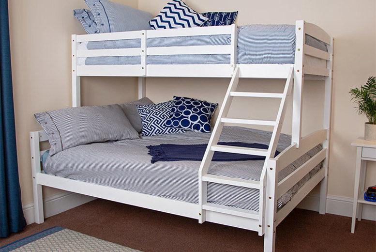 Triple Wooden Bunk Bed Frame