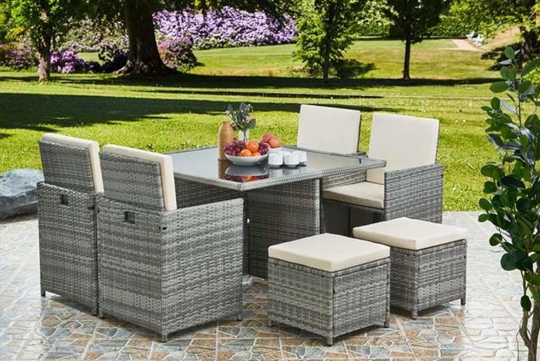 Napoli 9pc Rattan Cube Set - 4 Colours!