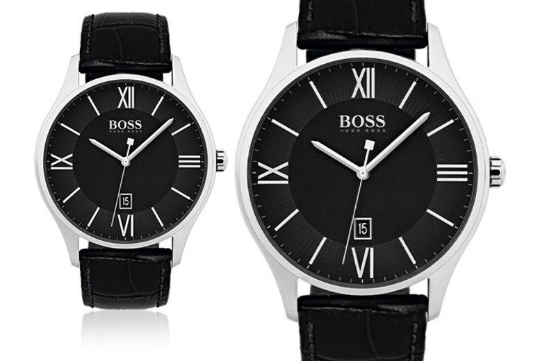 Hugo Boss Black Men's Leather Watch HB1513485