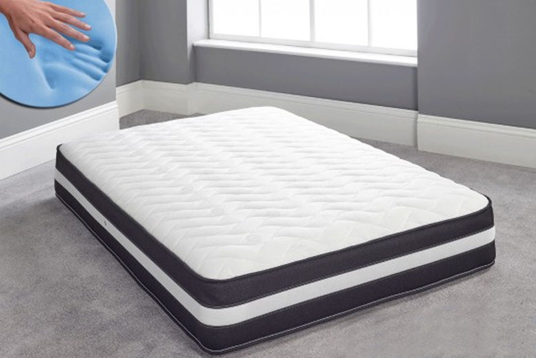 Cool Blue Memory Sprung Mattress - 6 Sizes!