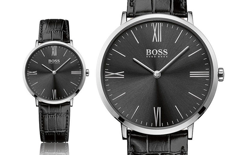 Hugo Boss Black Leather HB1513369 Men's Watch