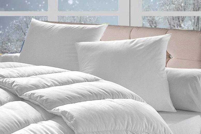 15 Tog Winter Bounce Back Duvet & 4 Pillows – 4 Sizes! (from £15)
