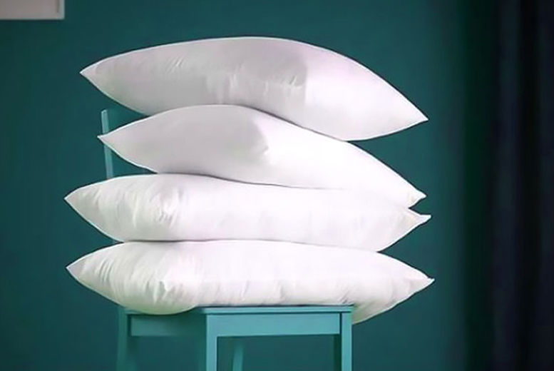 4 Luxury Goose Feather & Down Pillows