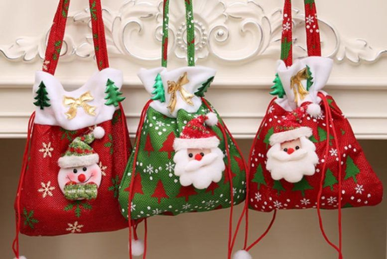 Xmas Drawstring Gift Bags Shop Wowcher