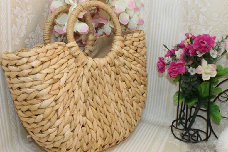 Straw Rattan Bag – 2 Sizes! (from £12)