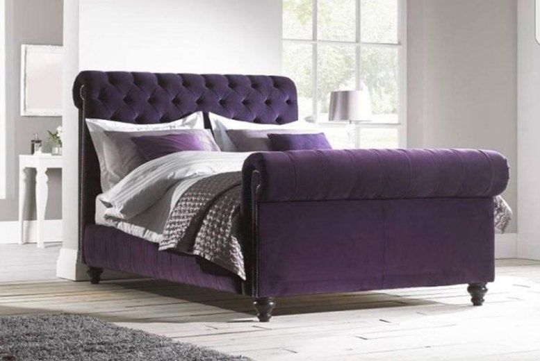 Handcrafted Upholstered Luxe Edition Bed - 3 Colours & 2 Sizes!
